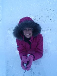 Debbie In Ice At Lake Louise